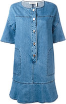 See by Chloe frill hem denim dress - women - Cotton/Spandex/Elastane - 36