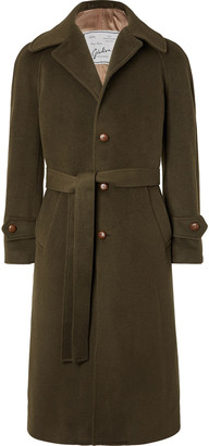 Giuliva Heritage Collection Arturo Belted Virgin Wool and Cashmere Coat - Men - Green