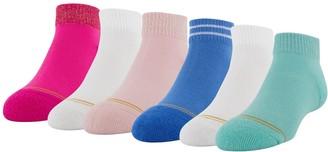 Gold Toe Girls GOLDTOE 6-Pack Glimmer Quarter Socks