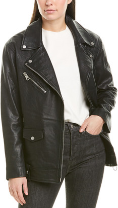 Bagatelle Oversized Leather Biker Jacket