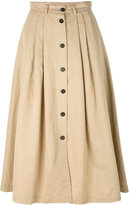 Incotex buttoned full skirt - women - Cotton/Ramie - 40