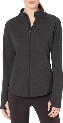 Amazon Essentials Fleece Lined Full-zip Mockneck Jacket Charcoal Heather XXL