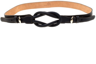 Gucci Navy Blue Leather Knot Belt 90 CM