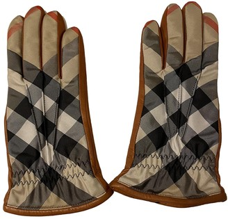 Burberry Camel Leather Gloves