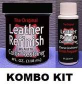 Leather Refinish Color Restorer & Cleaner/Conditioner-Preparer Combo Kit