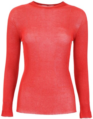 Philosophy di Lorenzo Serafini Ribbed Crew-Neck Top
