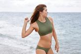aerie Hi-Neck Crop Bikini Top