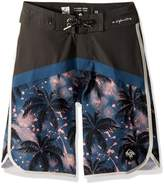 Quiksilver Big Boys' Crypt Scallop Youth Swim Trunk