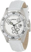 Invicta Women's 12512 Pro Diver Silver Dial Leather Watch