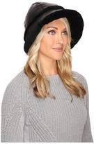 UGG Nylon Hat w/ Exposed Short Pile Trim