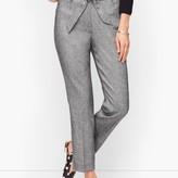 Talbots Stretch Crepe Tie Waist Pants - Textured