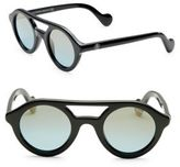 Moncler 47MM Round Mirrored Sunglasses