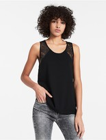 Calvin Klein Jeans Lace-Trimmed Tank Top