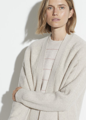 Vince Wool Cashmere Ribbed Back Cardigan