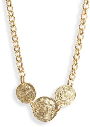 Adina's Jewels Triple Coin Rolo Choker