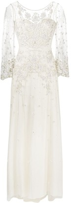 Jenny Packham Apache embroidered-tulle wedding gown