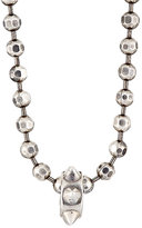 Emanuele Bicocchi Men's Spiked Charm On Faceted Ball Chain-Silver