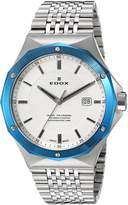 Edox Men's 53005 3BUM AIN Delfin Analog Display Swiss Quartz Watch