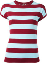 I'M Isola Marras striped T-shirt - women - Polyester/Viscose - M