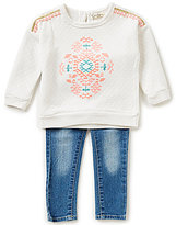 Jessica Simpson Baby Girls 12-24 Months Quilted Top and Jeans Set