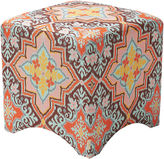 One Kings Lane Rebecca Stool, Orange/Blue