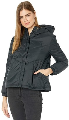 Madewell Chevron Packable Puffer Jacket (True Black) Women's Coat