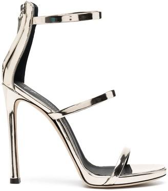 Giuseppe Zanotti Metallic-Effect High-Heel Sandals