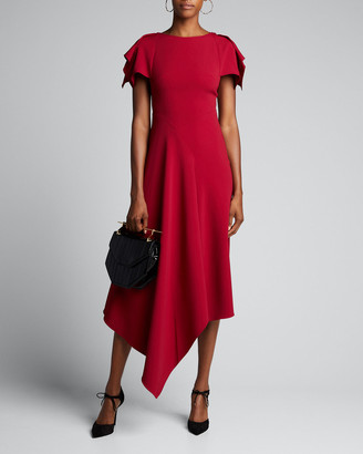 Roland Mouret Draped-Front Asymmetric Dress