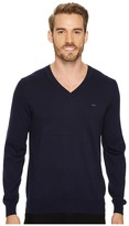 Lacoste Cotton Jersey V-Neck Sweater Men's Sweater