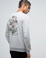 Bando Harmony Printed Lily Sweater In Back Print