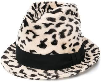 Dolce & Gabbana leopard print trilby hat