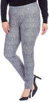 MICHAEL Michael Kors Classic Washed Ash Grey Denim Print Stretch Twill Knit Leggings