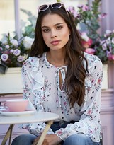 Lipsy Floral Printed Ruffle Blouse