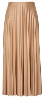 Dorothy Perkins Womens Camel Jersey Pleat Midi Skirt, Camel