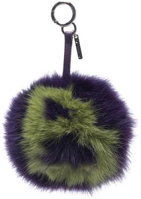 Fendi ABCharm Purple Fur Bag charms