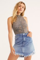 We The Free Bailey Denim Mini Skirt by at Free People, Bailey Blue, 24