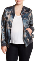 Hip Camo Bomber Jacket (Plus Size)