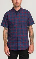 RVCA Men's That'll Do Plaid Short Sleeve Woven Shirt