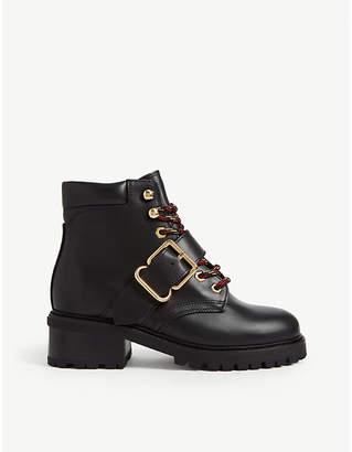 Sandro Grant leather ranger boots