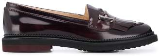 Tod's patent slip-on loafers