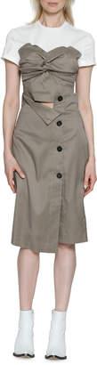 Walter Baker Harold High-Waist Check Button-Down Skirt