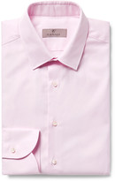 Canali - Pink Slim-fit Textured-cotton Shirt