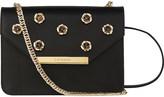 LK Bennett Karla rose-detail leather shoulder bag