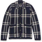 A.P.C. Plaid Wool Cardigan