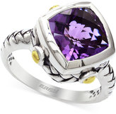 Effy Amethyst Ring in Sterling Silver and 18k Yellow Gold (3-1/2 ct. t.w.)