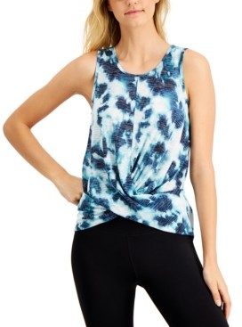 Ideology Tie-Dyed Twist-Front Tank Top, Created for Macy's