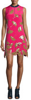 3.1 Phillip Lim Gingko-Embellished Shift Dress, Bright Cerise