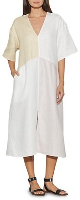 Equipment Josee Linen Midi Dress