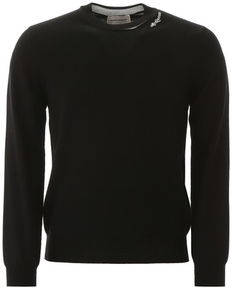 Alexander McQueen Pullover With Embroidered Logo Patch