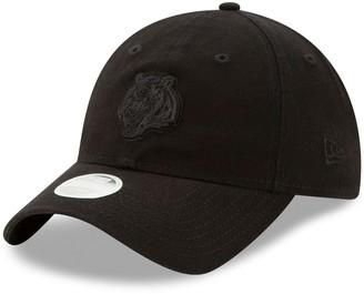 New Era Women's Black Cincinnati Bengals Core Classic Black on Black 9TWENTY Adjustable Hat